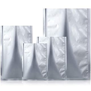 48 Pieces 4 Sizes Mylar Aluminum Foil Bags, Metallic Mylar Foil Flat Heat Sealable Bags Storage Bags Pouch for Food Coffee Tea Beans (5 x 7 Inch, 5.5 x 8 Inch, 7 x 10 Inch, 8.5 x 12 Inch)