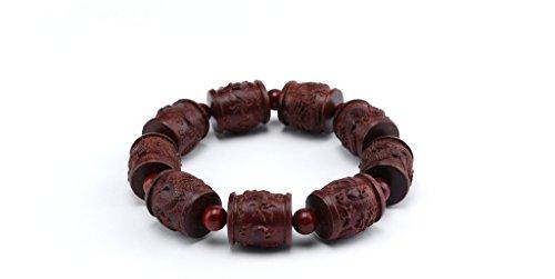 poppee The Chakras Bangle Natural Stone Budhi Seed Mala Handmade Tibetan Buddhist Prayer Beads Diffuser Bracelet Bangle for Yoga Men and Women for Gift