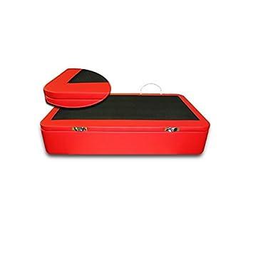 Ventadecolchones - Canapé Apertura Lateral Gran Capacidad Modelo Serena tapizado en Polipiel Rojo Medidas 105 x 190 cm (Borde de Tapa en Polipiel): ...