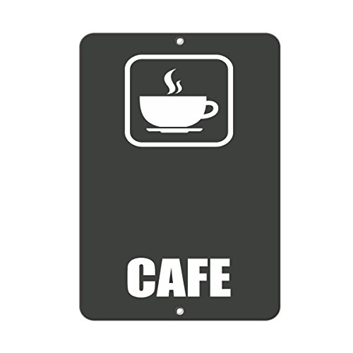 Cafe Style 3 Business Sign Lunch Room And Break Room LABEL DECAL STICKER Sticks to Any Surface 9x12 In