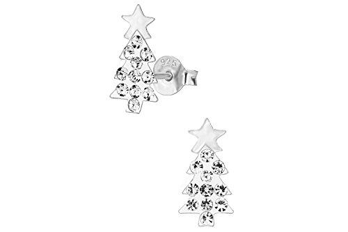 925-Sterling-Silver-Hypoallergenic-Crystalline-Christmas-Tree-Stud-Earrings-for-Girls-Nickel-Free