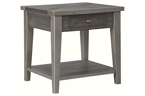(Signature Design by Ashley T646-3 Branbury End Table Gray)