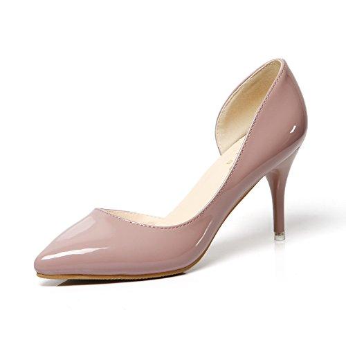 1TO9Mmsg00004 - Sandali con Zeppa donna, beige (Nude), 35