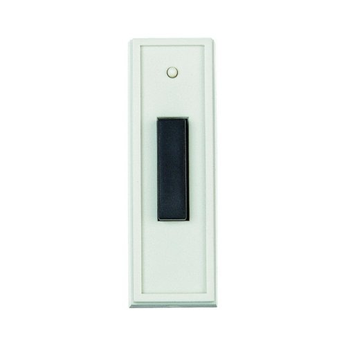 Doorbell Transmitter - Carlon Lamson & Sessons RC3301 White With Black Doorbell Transmitter Button