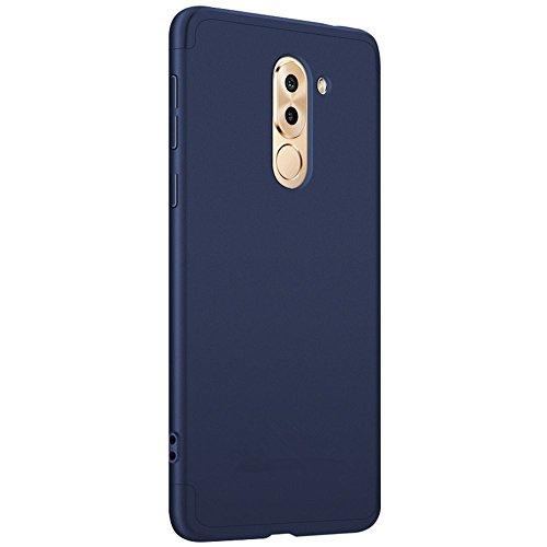 Coque Huawei Honor 6x tui ,Qissy? 3 en 1 Bumper Tout inclus Ultra Mince Spcialement Design 360 PC protective Hard case Cover Pour Huawei Honor 6x Smartphone Bleu