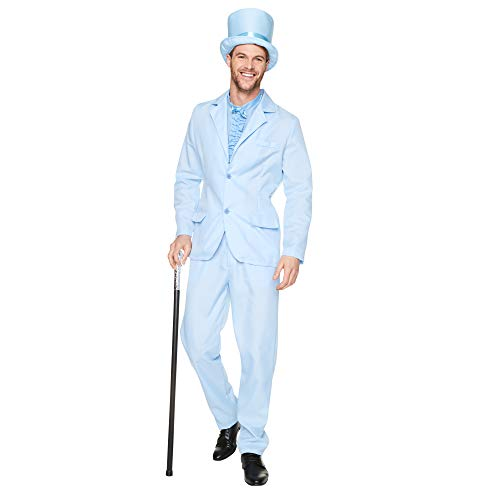 90s Blue Tuxedo Costume Set - Halloween Funny Movie Character Cosplay, L ()