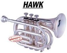 Hawk Nickel Plated Pocket Trumpet, WD-TP318