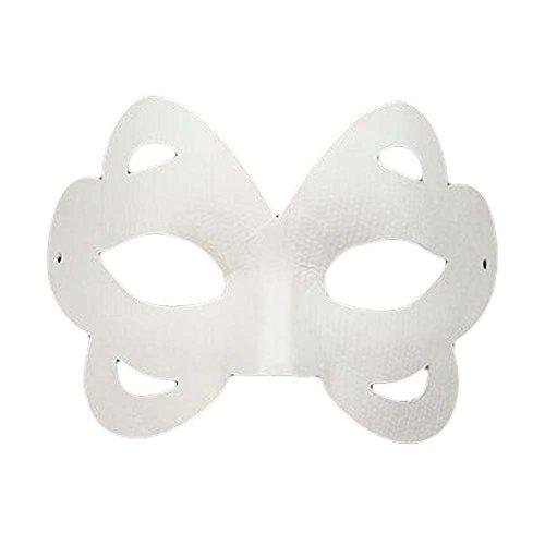 10 Pcs Butterfly White Mask Hand Painted Eye Mask DIY Paper Mask Costume Mask