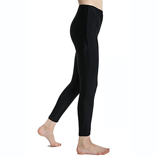 Lynddora Women's Active Fitness Leggings Running Tights Yoga Pants Swim Bottom UV Sun Protection