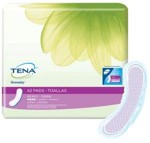 (TENA® Serenity® Ultra Plus Heavy Absorbency Long Pads, 15