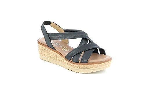 Grunland Sa1703 Sandale Femme Coco P. Noir 37