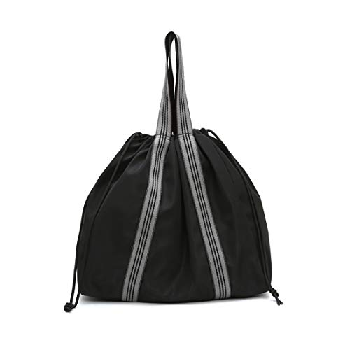 Travel Bags Satchel Drawstring Black Mynos Girl Purse Backpack Tote Handbag Shoulder WRnqCS6