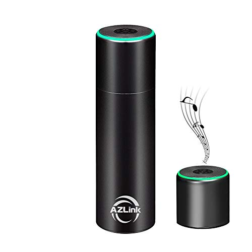 AZLink Music Thermos Cup with Wireless Bluetooth Speaker, Stainless Steel Sports Water Bottle, Travel Cup, Coffee Mug with Temperature Sensing for Hot and Cold Water