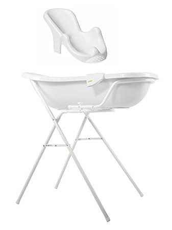 Baby Bath Tub XXL 100 cm + Bath tub stand + Bathtub seat Emmay ...