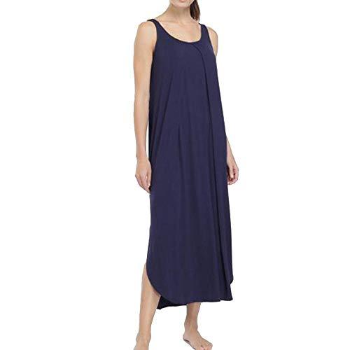Ekouaer Sleeveless Loungewear Women Long Nightdress Grey ()