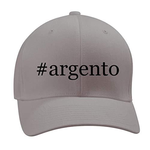#Argento - A Nice Hashtag Men's Adult Baseball Hat Cap, Silver, Small/Medium