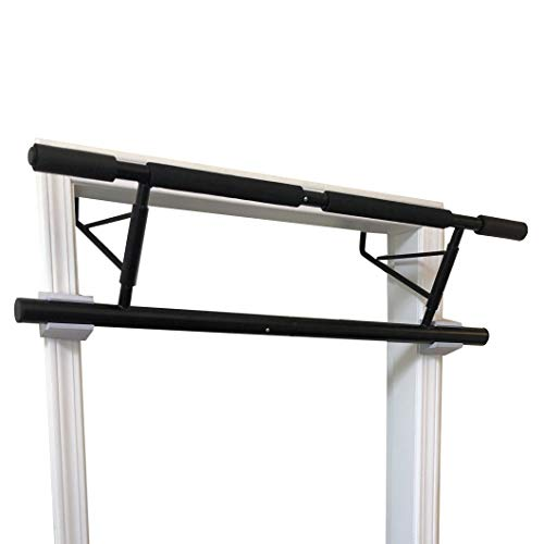 SHAMROCK TRIPLE GYM Pull Up Bar, No Assembly Required, Folds Flat & Comes Apart for Travel Or Storage, USA Shipping and Warranty (Black)