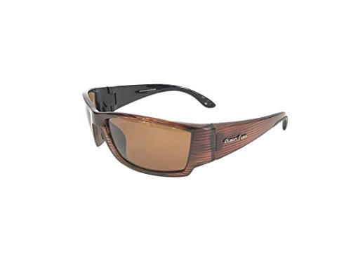 Ocean Eyes Fish On Polarized Sunglasses - Brown Striped, Amber - Ocean Eyes Sunglasses