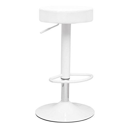 Modern Contemporary Bar Stool, White, Fabric by America Luxury - Stools