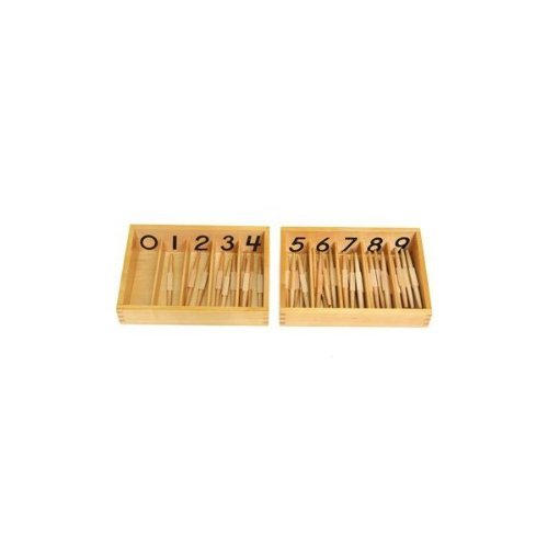 Montessori Numbered Spindle Box with 45 Spindles
