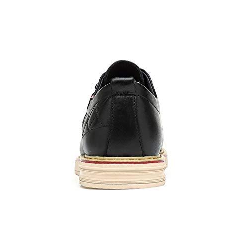 Style con Tonda Business Scarpe Casual Scarpe Semplice Classiche da Testa Cricket Nero New Men's Classica Oxford xIdzqH00