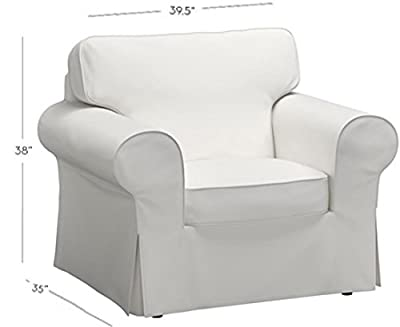 The Chair Cover Is Sofa Slipcover Replacement. It Fits Pottery Barn PB Basic Chair or Armchair