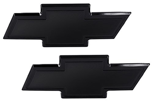 (AMI 96130K Chevy Bowtie Grille & Lift gate Emblem with Border- Black Powder coat, 1 Pack)
