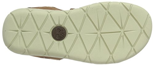 Timberland Unisex-Kinder Nubble Leather 2 Strap Pantoletten Braun (Cappuccino Nubuck A20)