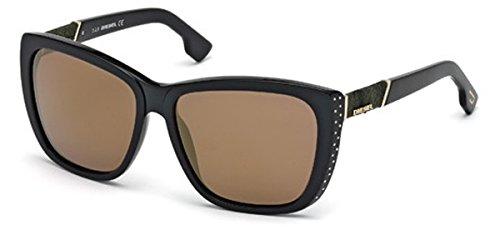 Diesel Women's DL0089 Butterfly Black Sunglasses 59