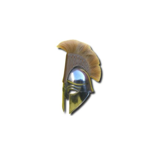 Spartan Chest Plate Costume (Armor Venue Spartan Helmet with Tan Plume - Greek Armor - Metallic - One Size)