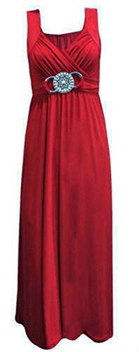 NEW LADIES PLUS SIZE EVENING DRESS BUCKLE WOMENS LONG ELEGANT COCKTAIL 16 - 26