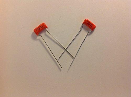 2 NOS USA Sprague .047uf 100v 225P Orange Drop Guitar Tone Capacitors Circle 2