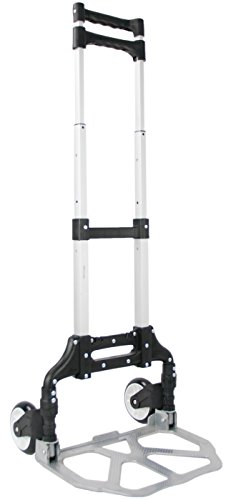 VIVO Aluminum Folding Hand Truck Assistant Telescoping Dolly Cart 165 lb Carrying Capacity (CART-FHT1) (Utility Folding Dolly)