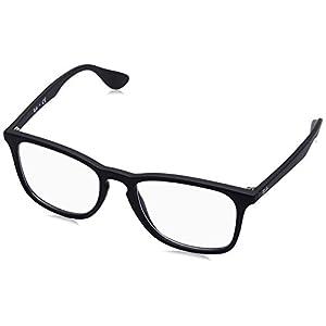 Ray-Ban Unisex RX7074 Eyeglasses Rubber Black 52mm