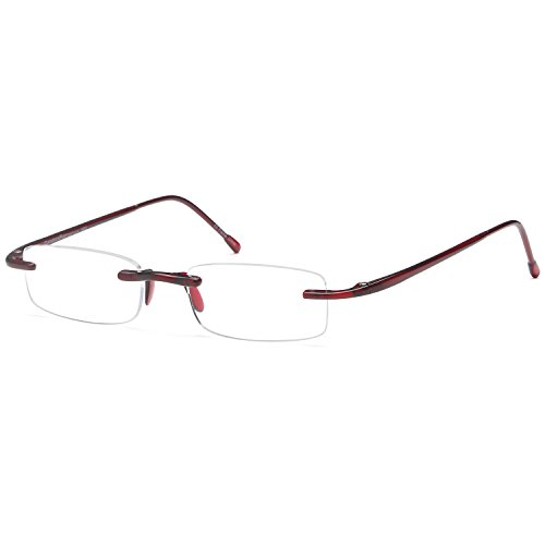 GAMMA RAY FLEXLITE Ultra Light Flexible Rimless Stainless Steel Minimalistic Gaming Computer Glasses Anti Blue Ray Anti Glare (Ultra Light Reading Glasses)