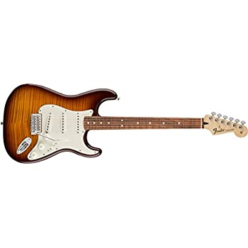 Fender Standard Stratocaster Electric Guitar - Flamed Maple Top - Pau Ferro Fingerboard, Tobacco Sunburst