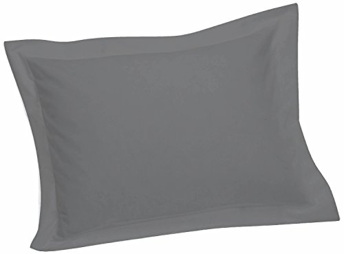 Crescent Bedding 1800 Series Soft and Comfy Microfiber Hypoallergenic Grey Pillow Sham, Gray (20″x26″+2″)