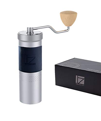 1Zpresso JX-PRO Manual Coffee Grinder Light Gray Capacity 35g with Assembly Stainless Steel Conical Burr - Numernal Adjustable Setting, Portable Mill Faster Grinding Efficiency Espresso to Coarse