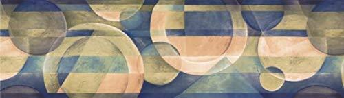 OS24591B Abstract Modern Circles Wallpaper Border 7
