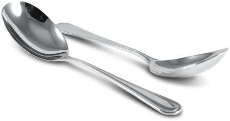 - Elegant Regency Line Tabletop Flatware Serving Spoon 2 Serving Utensil SET OF TWO Buffet Banquet Serving Spoons 18//8 Gauge Mirror-Polished Stainless Steel