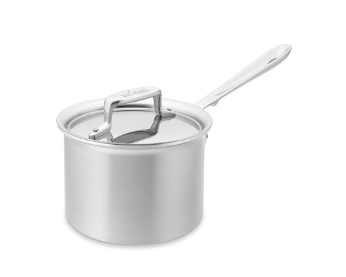 All-Clad d5 Brushed Stainless-Steel Saucepan, 2-Qt.