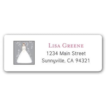 amazon com bride silver return address labels health personal care