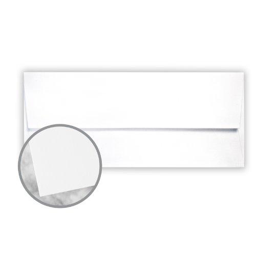 - CRANE'S CREST Fluorescent White Envelopes - No. 10 Square Flap (4 1/8 x 9 1/2) 70 lb Text Imaging 100% Cotton 500 per Box