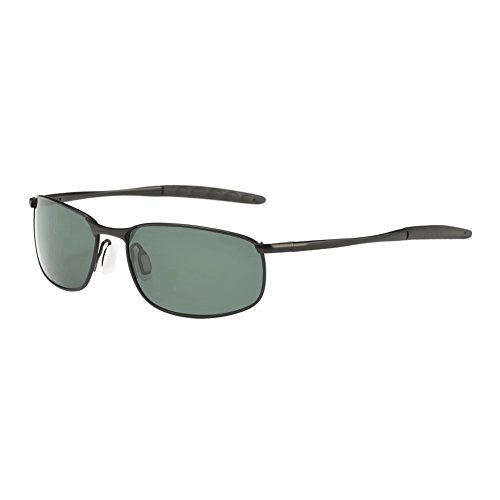 ZHILE 8-base Curve Wrap Metal Frame Polarized Sunglasses for Men (Black frame G15 lens, 57) by ZHILE