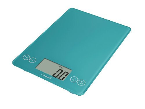 Escali 157PB Arti Glass Digital Kitchen Scale 15Lb/7Kg, Peacock Blue