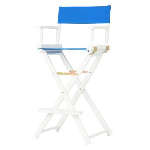 Casual Home 30-Inch Director Chair, White Frame
