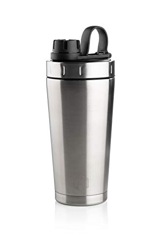 Badass Bottle 3-in-1 Stainless Steel Water Bottle, Shaker Bottle, Double Walled Vacuum Insulated Tumbler. Leak Proof, BPA Free, Dishwasher Safe (Stainless Steel)