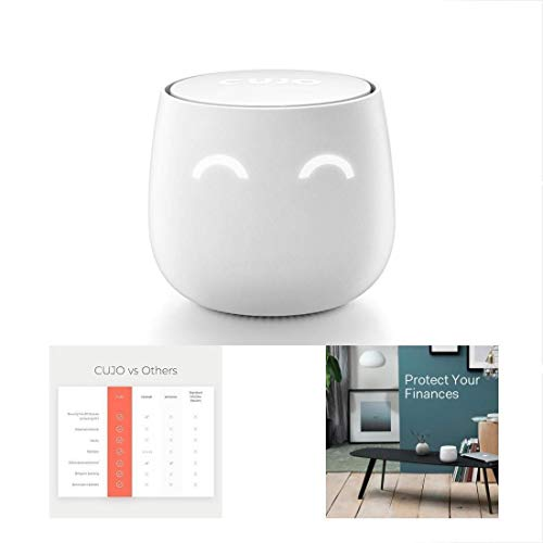 CUJO AI Smart Internet Security Firewall | Free Subscription (2nd Gen.) - Protects Your Network from Viruses and Hacking/Parental Controls/for Home & Business/Plug Into Your Router
