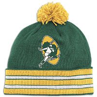 NFL Mitchell & Ness Green Bay Packers Green-Gold Throwback Jersey Striped Cuffed Knit Beanie