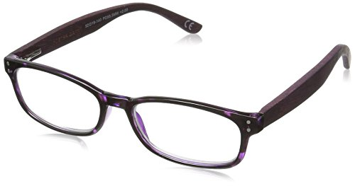 Foster Grant Women's Bernadette 1017561-150.COM Wayfarer Reading Glasses, Purple, - Wayfarers Purple
